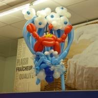Crabe en ballons sculptés